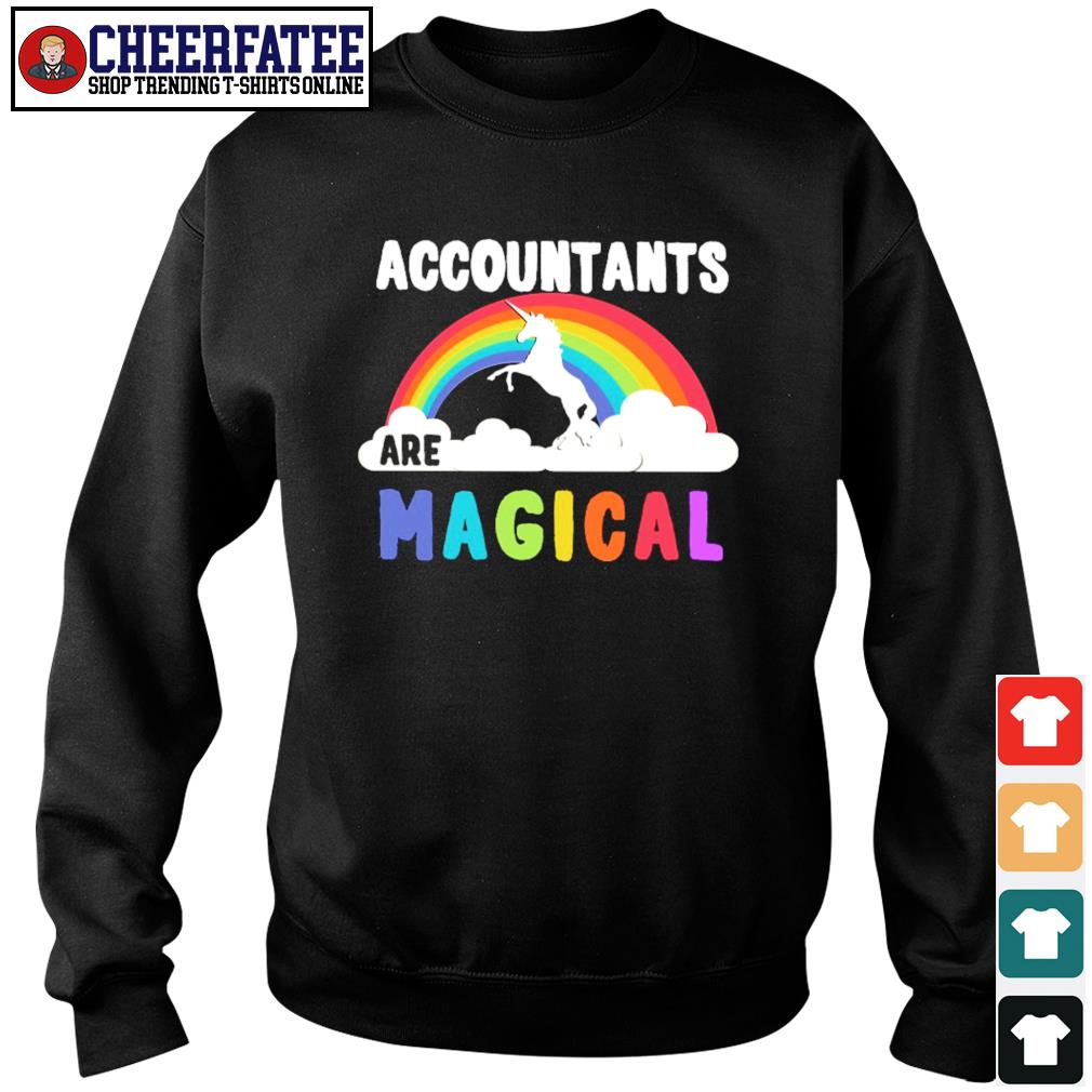 Unicorn accountant are magical rainbow s sweater