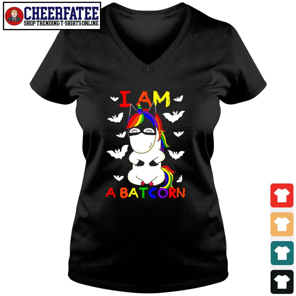 Unicorn I am a batcorn LGBT s v-neck t-shirt
