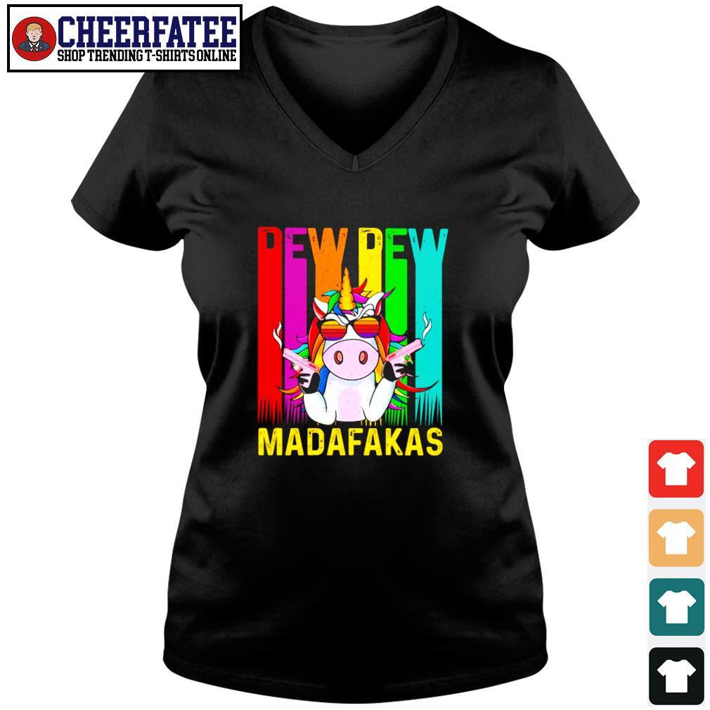 Unicorn pew pew madafakas LGBT s v-neck t-shirt
