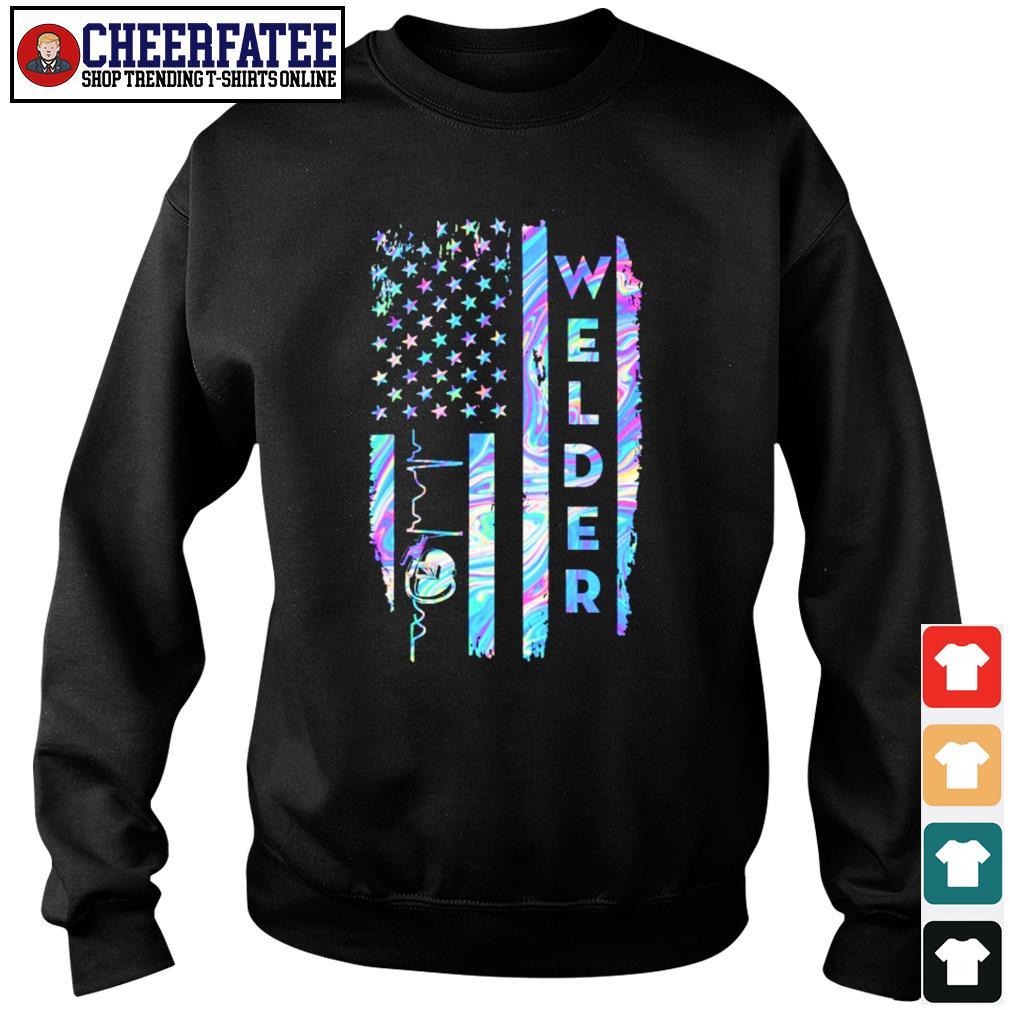 Welder american flag s sweater