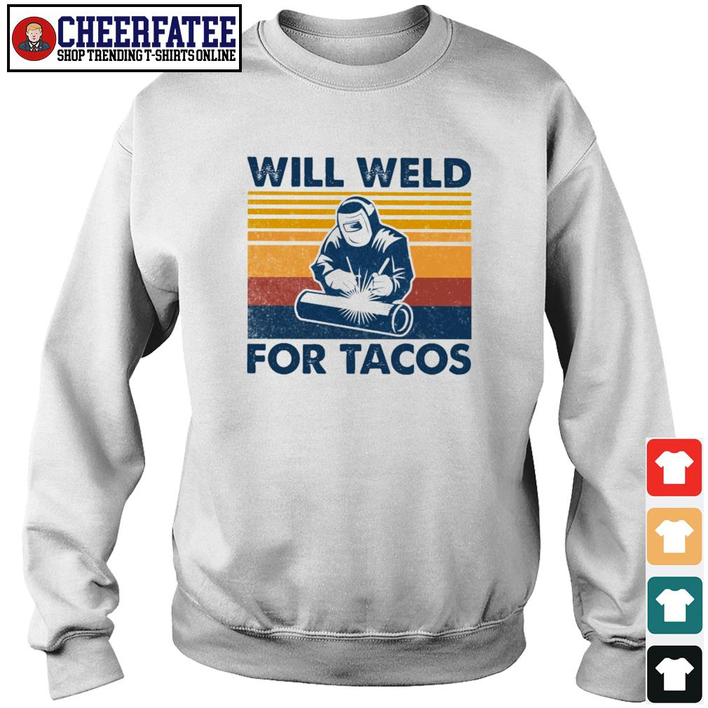 Will weld for tacos vintage s sweater