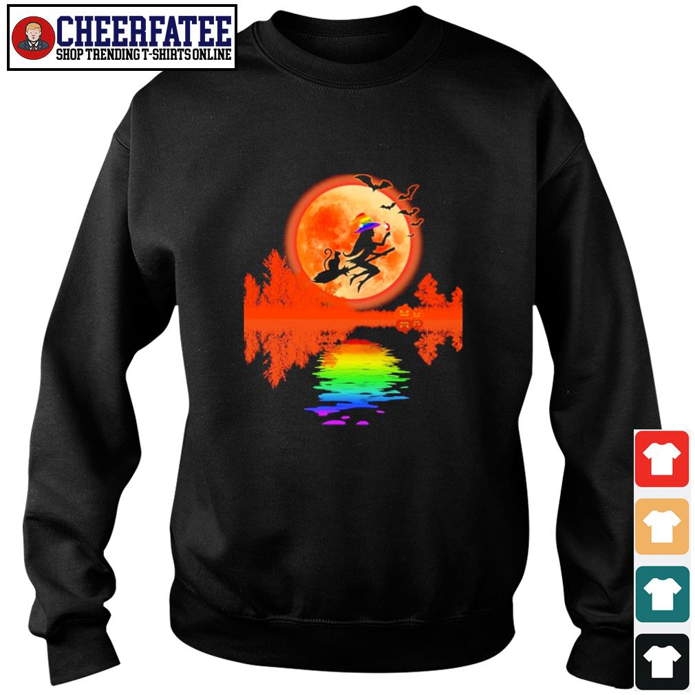 Witch cat lake moon LGBT s sweater