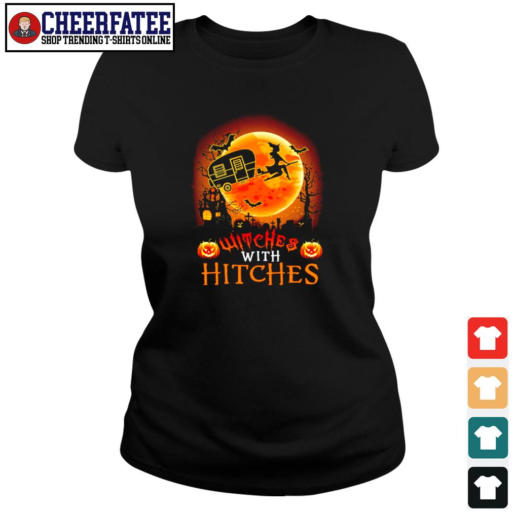 Witches with hitches camping halloween s ladies-tee