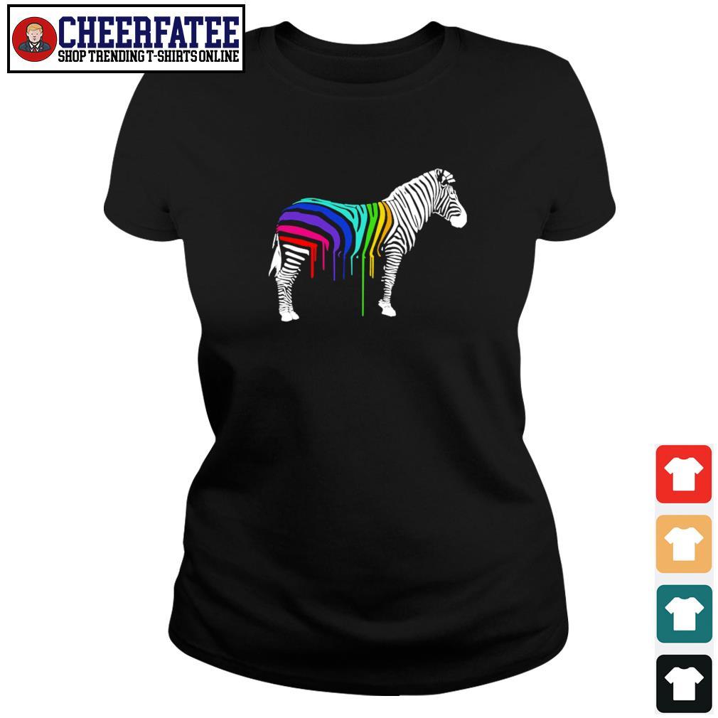 Zebra stripes LGBT s ladies-tee