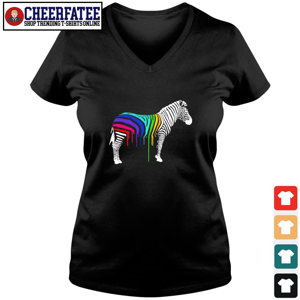 Zebra stripes LGBT s v-neck t-shirt