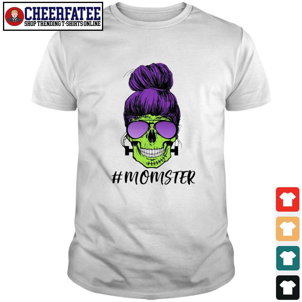 Zombie skull #momster shirt