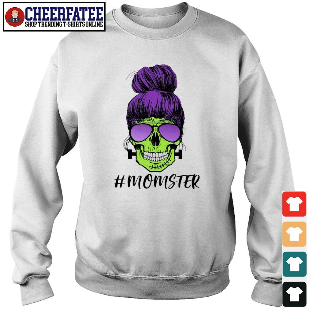 Zombie skull #momster s sweater